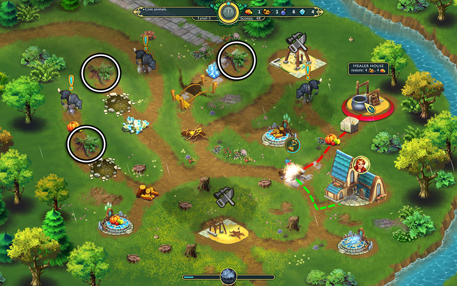 Elven Legend 2 - The Bewitched Tree Level 5 - Tuft of Grass Locations