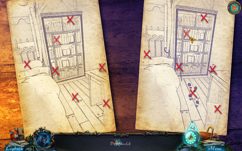 Red Riding Hood - Star-Crossed Lovers 7 Sketch Differences Puzzle Solution