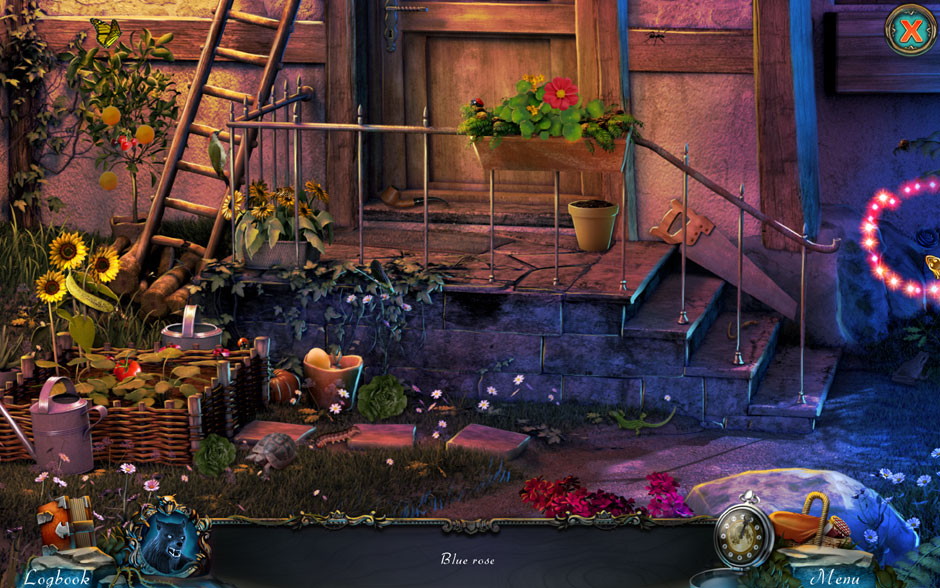 Red Riding Hood - Star-Crossed Lovers Hidden Object Scene Blue Rose Location