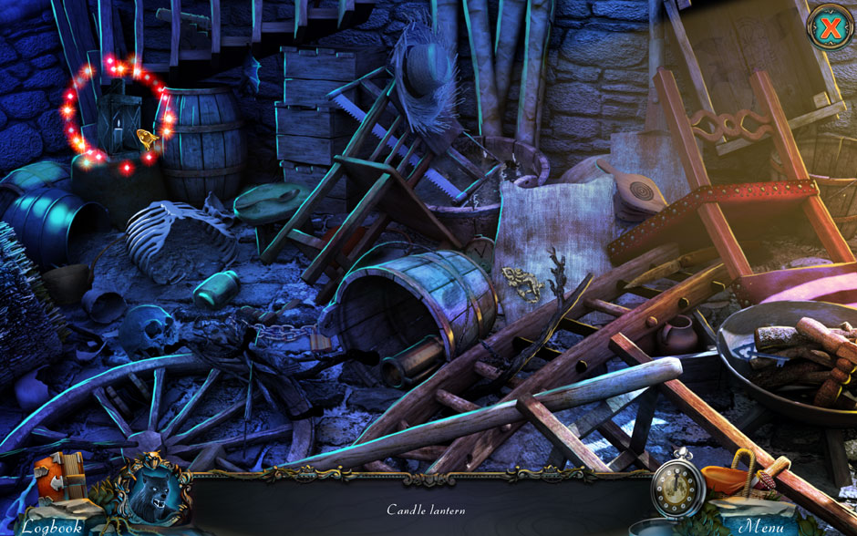 Red Riding Hood - Star-Crossed Lovers Hidden Object Scene Candle Lantern Location