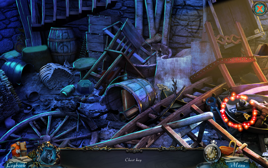 Red Riding Hood - Star-Crossed Lovers Hidden Object Scene Chest Key Location