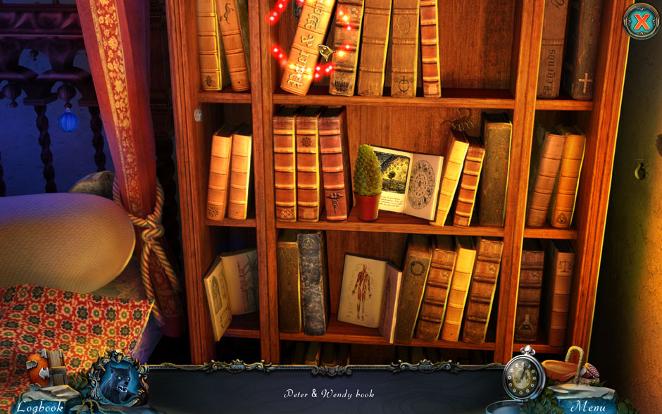 Red Riding Hood - Star-Crossed Lovers Hidden Object Scene Peter and Wendy Book Location