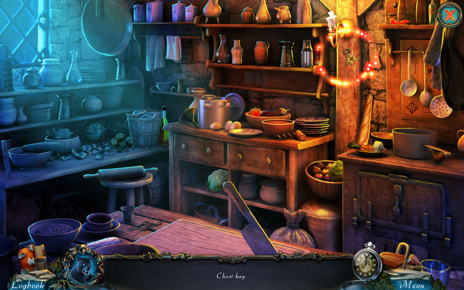 Red Riding Hood - Star-Crossed Lovers Hidden Object Scene Second Chest Key Location