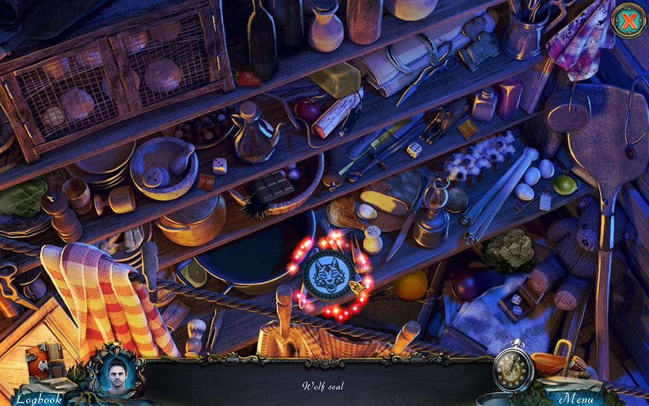 Red Riding Hood - Star-Crossed Lovers Hidden Object Scene Wolf Seal Location
