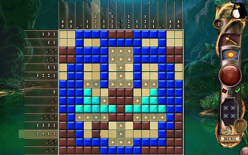Fantasy Mosaics 11 - Fleeing-from Dinosaurs Lion