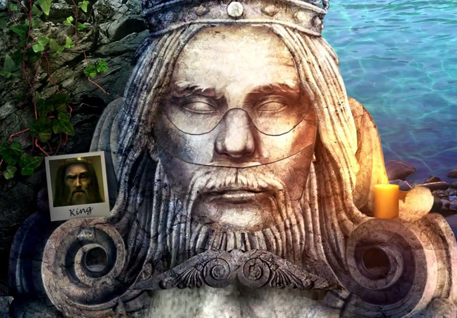 Grim Tales - The Stone Queen - King Statue's Face