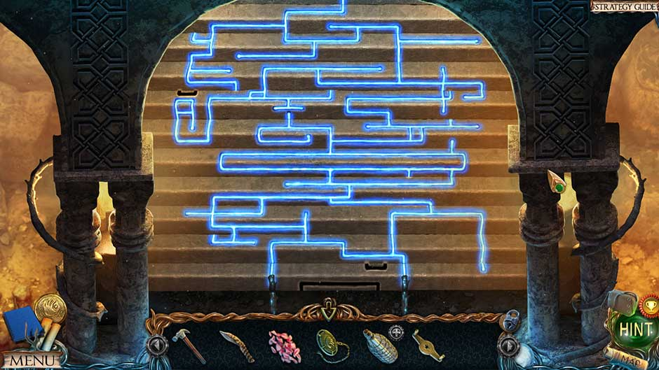 Lost Lands – The Golden Curse Castle of Madness Steps Puzzle Solution