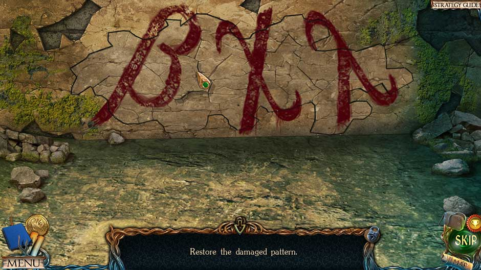 Lost Lands – The Golden Curse Damaged Wall Puzzle Solution