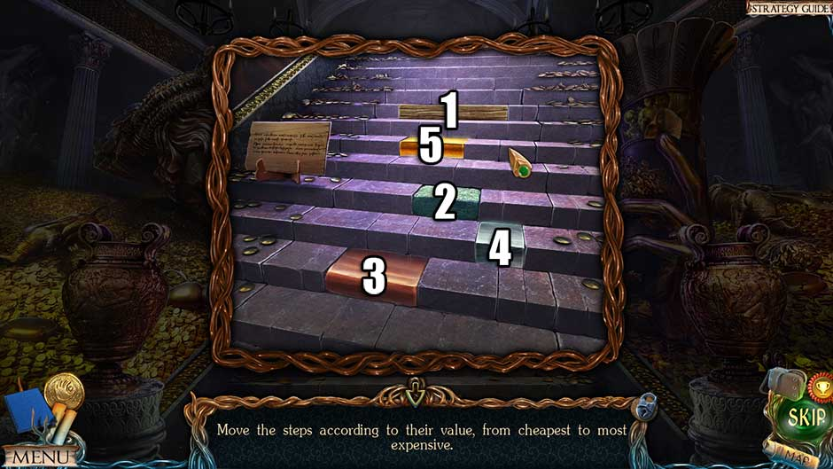 Lost Lands – The Golden Curse Step Sequence Puzzle Solution