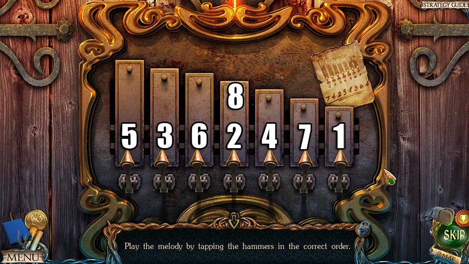 Lost Lands – The Golden Curse Xylophone Puzzle Solution