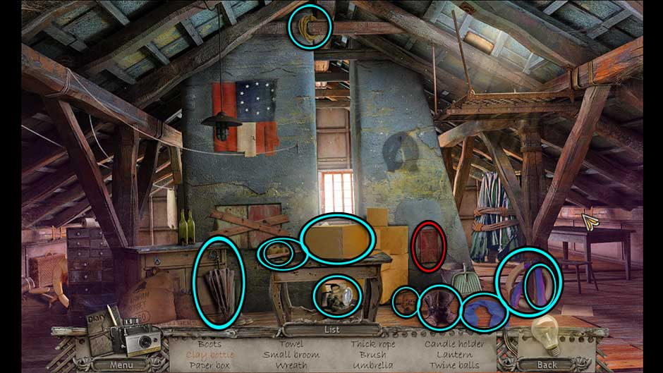 Mysteries of the Past – Shadow of the Daemon Attic Hidden Object Scene