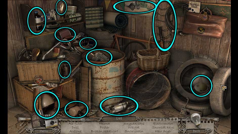 Mysteries of the Past – Shadow of the Daemon Epilogue Hidden Object Scene