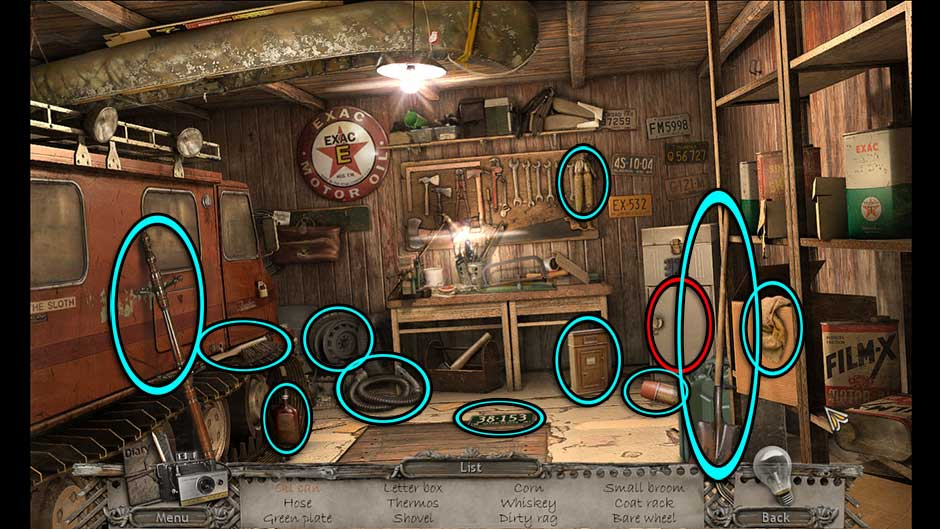 Mysteries of the Past – Shadow of the Daemon Garage Hidden Object Area