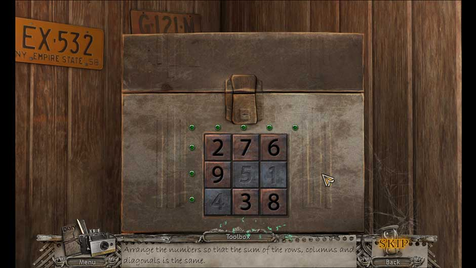 Mysteries of the Past – Shadow of the Daemon Garage Safe Combination Puzzle