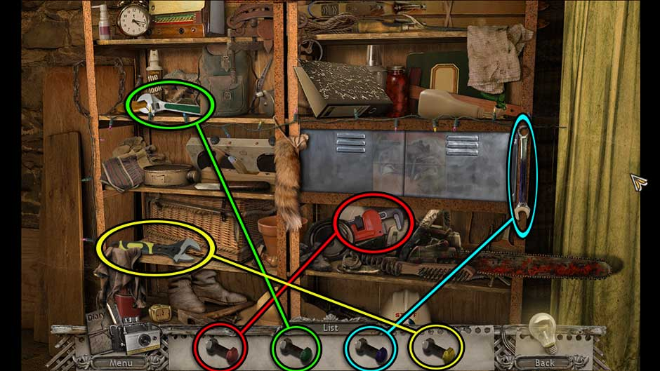 Mysteries of the Past – Shadow of the Daemon Generator Room Colored Wrenches Locations