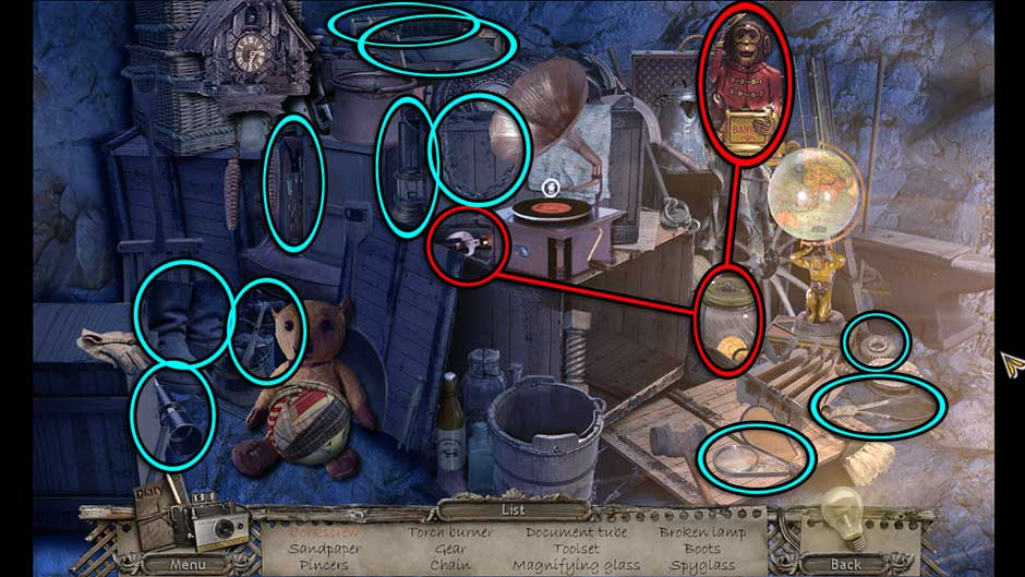 Mysteries of the Past – Shadow of the Daemon Hideout Hidden Object Scene