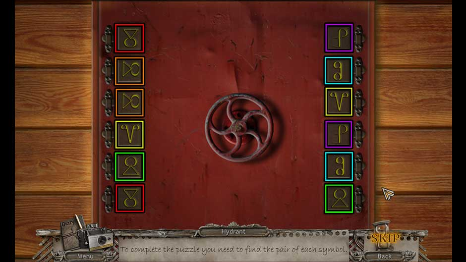 Mysteries of the Past – Shadow of the Daemon Hydrant Wheel Matching Puzzle Solution
