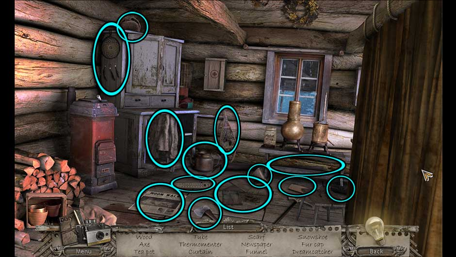 Mysteries of the Past – Shadow of the Daemon Inside Hut Hidden Object Scene