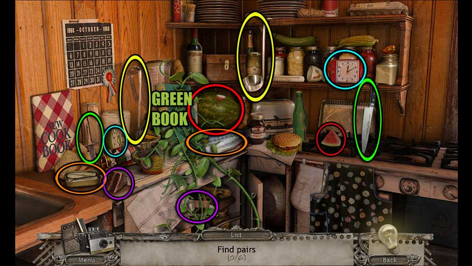 Mysteries of the Past – Shadow of the Daemon Kitchen Item Pairs