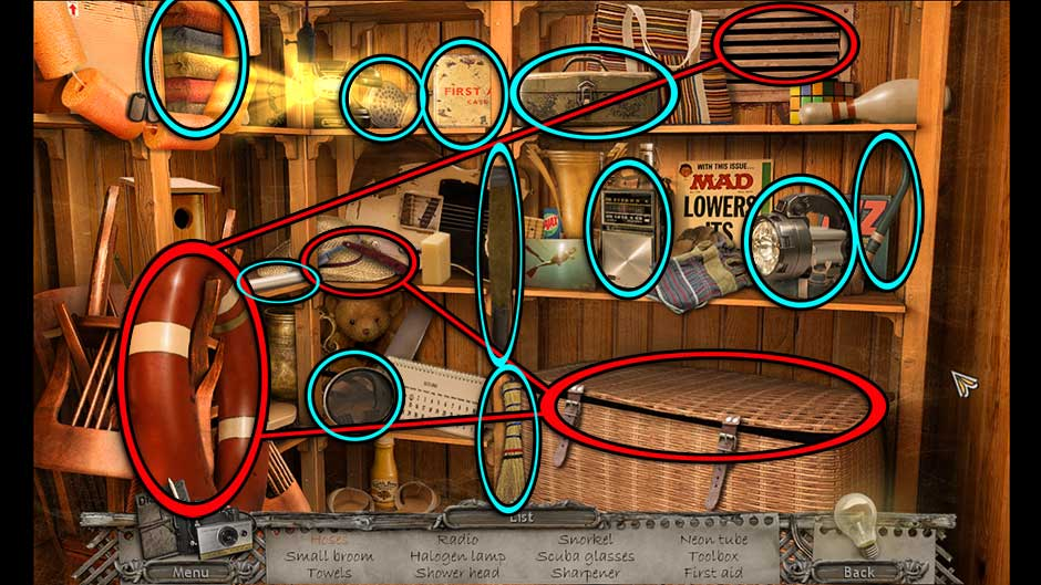 Mysteries of the Past – Shadow of the Daemon Pool Storage Hidden Object Scene
