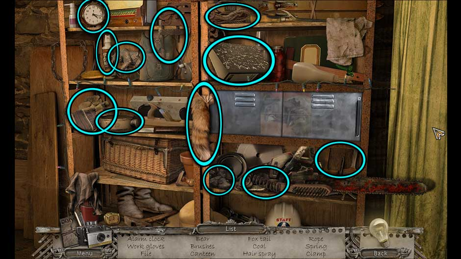 Mysteries of the Past – Shadow of the Daemon Generator Room Hidden Object Scene