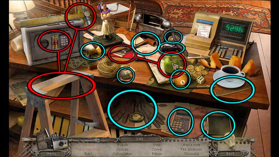 Mysteries of the Past – Shadow of the Daemon Reception Hidden Object Scene
