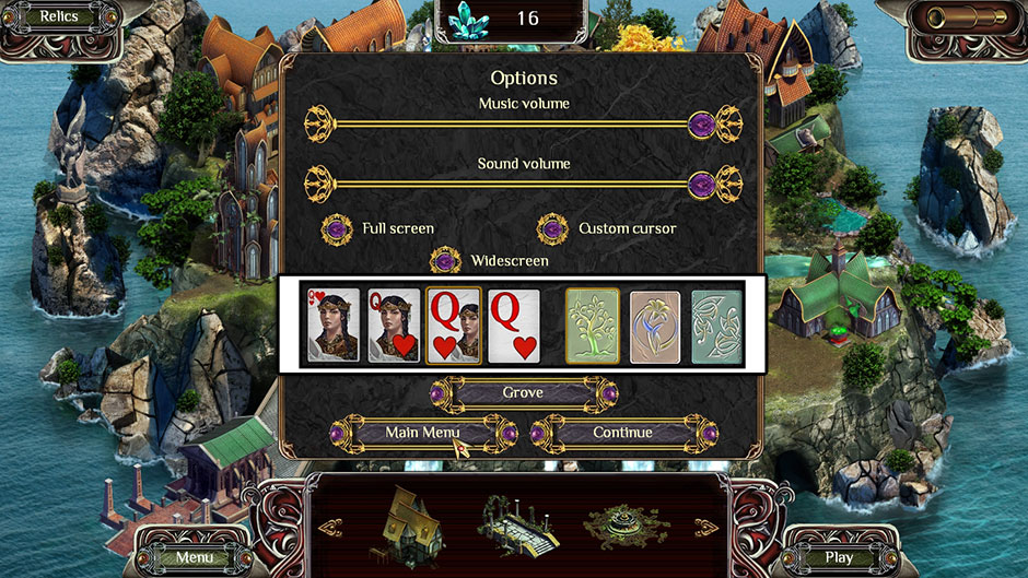 The Far Kingdoms - Sacred Grove Solitaire Card Styles
