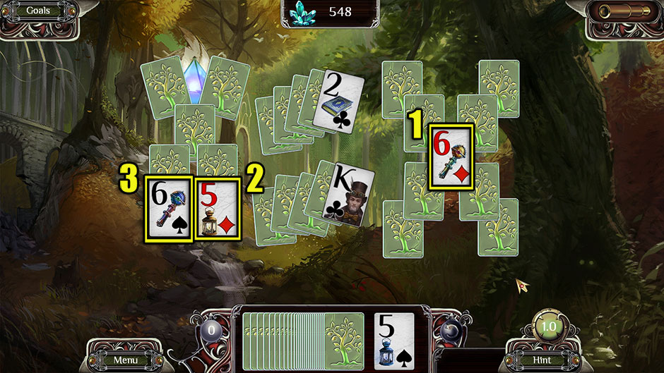 The Far Kingdoms - Sacred Grove Solitaire Selecting Cards
