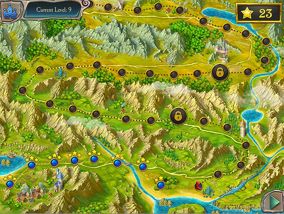 Avalon Legends Solitaire - Map