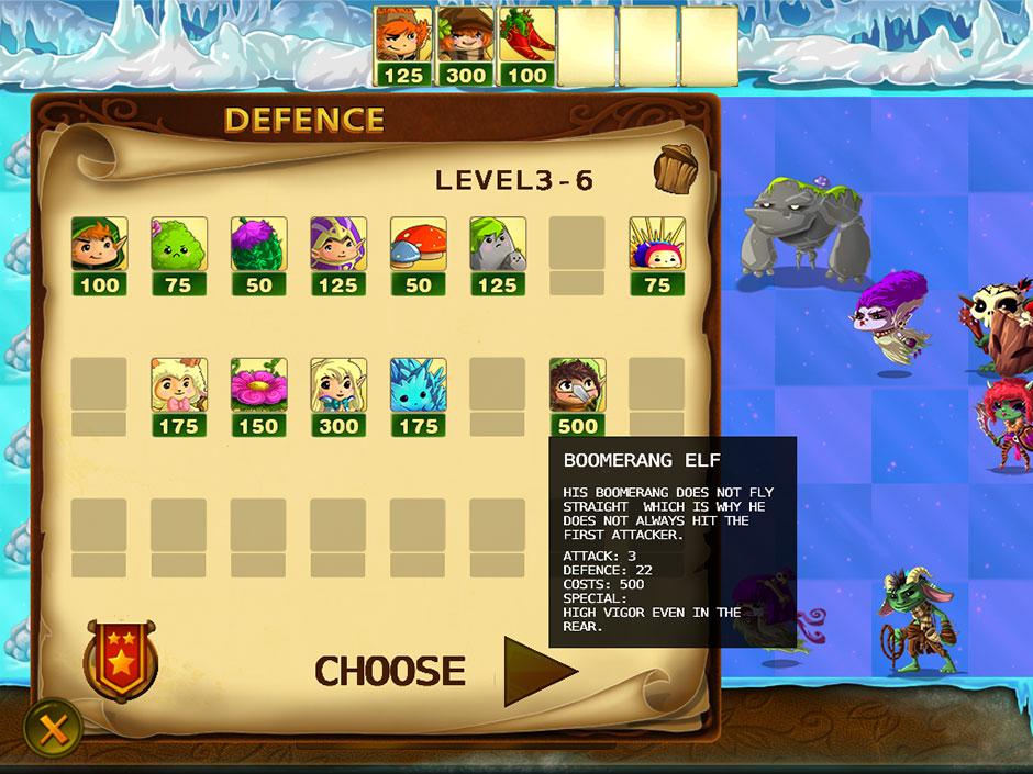 Elves Vs Goblins – Defender Level Select