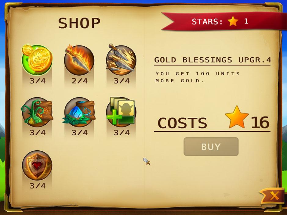 Elves Vs Goblins – Defender Shop Upgrades