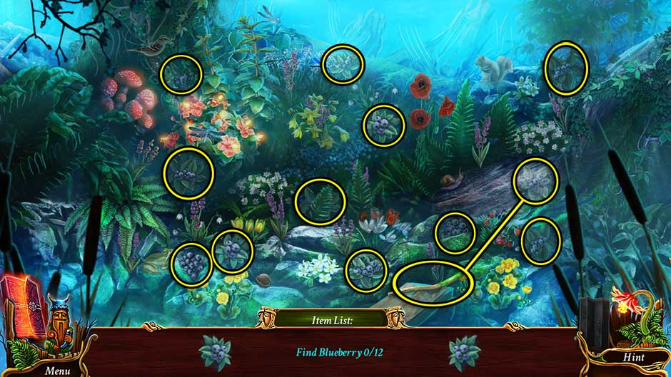 Eventide - Slavic Fable Blueberry Hidden Object Area