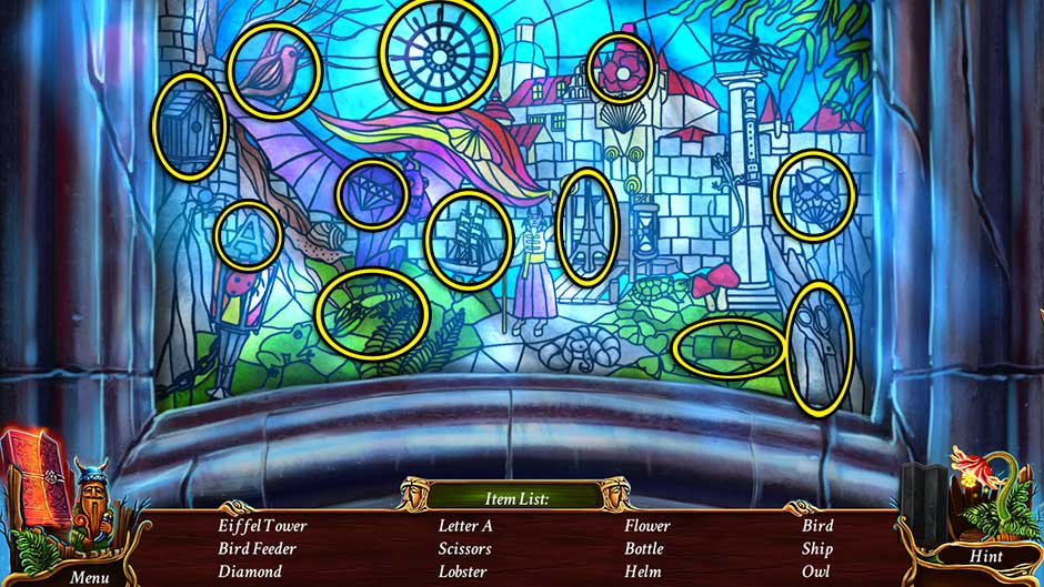 Eventide - Slavic Fable Stained Glass Hidden Object Scene