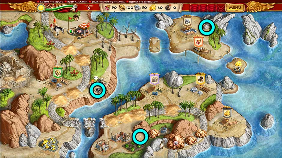 Roads of Rome New Generation Hidden Treasure Location Level 12
