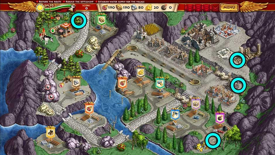 Roads of Rome New Generation Hidden Treasure Location Level 30