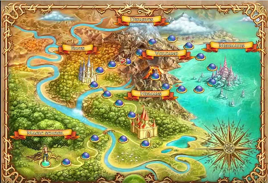 The Chronicles of Emerland Solitaire – Map