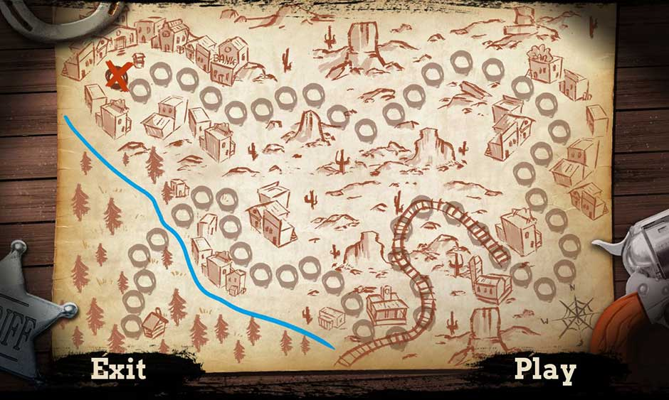 Wild West Chase - Tips Map