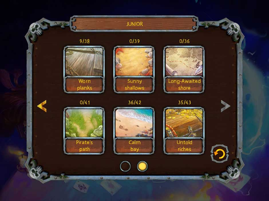 Pirate's Solitaire 3 - Levels
