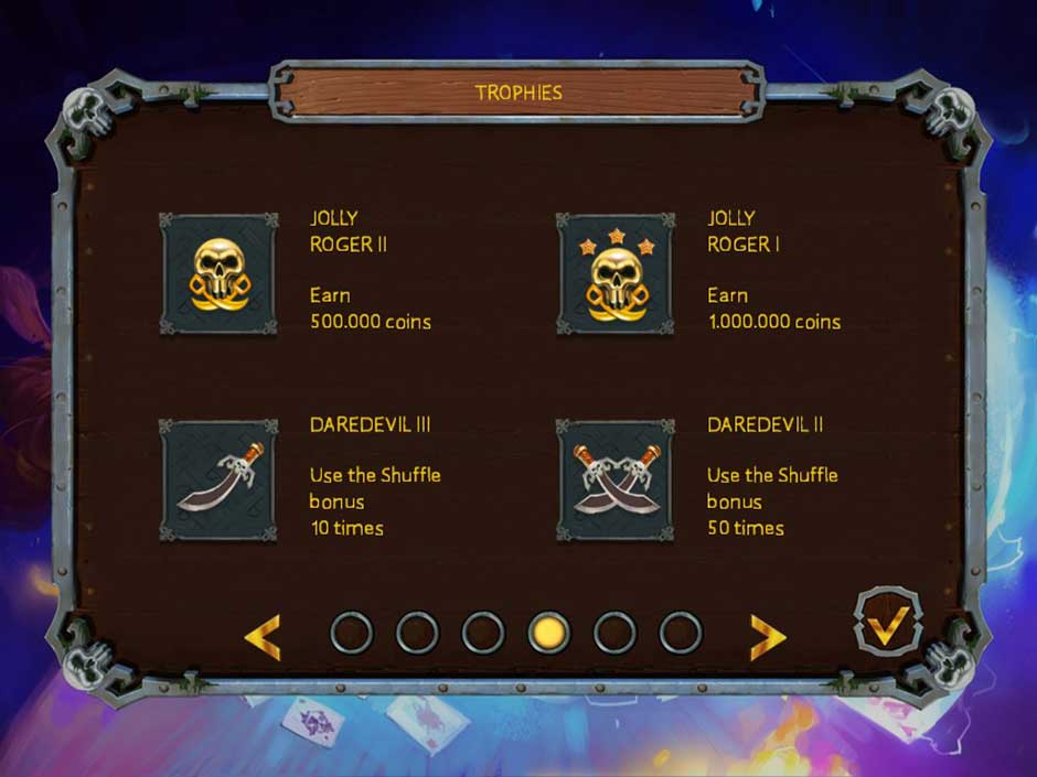 Pirate's Solitaire 3 - Trophies