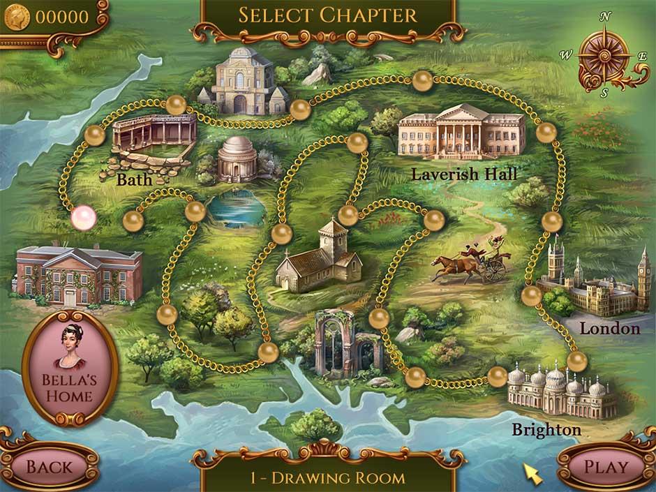 Regency Solitaire - Map