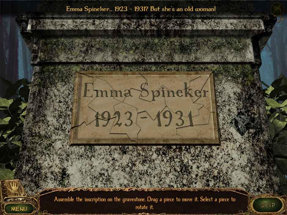 Lost Tales Forgotten Souls 004 Gravestone Puzzle