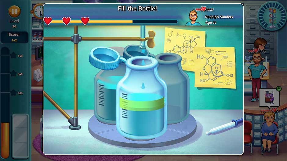 Heart's Medicine - Time to Heal Minigame - Fill the Bottle