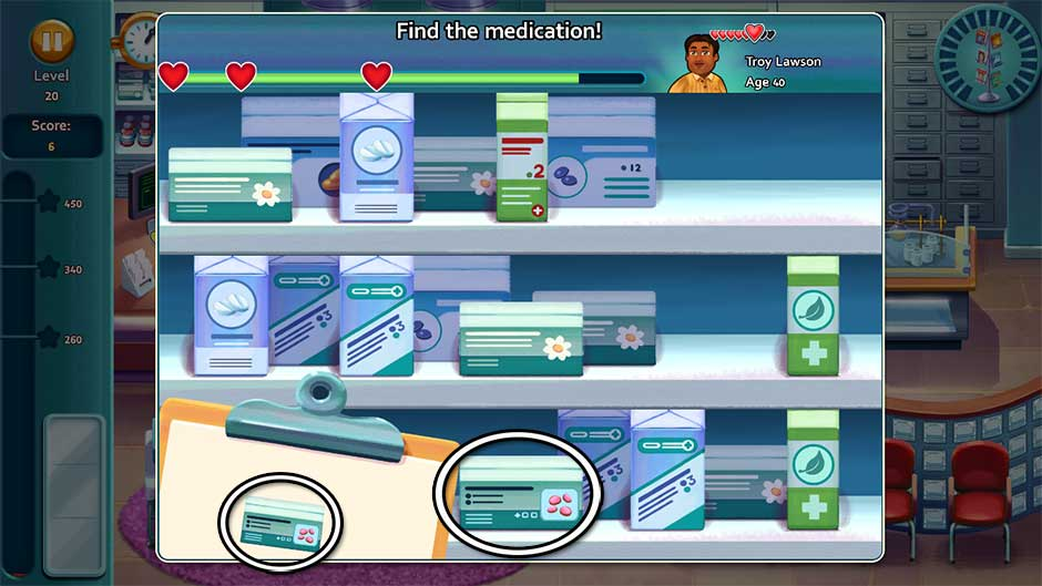 Heart's Medicine - Time to Heal Minigame - Find the Medication