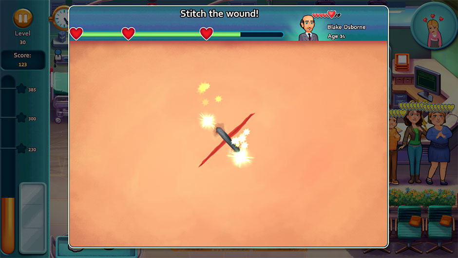 Heart's Medicine - Time to Heal Minigame - Stitch the Wound