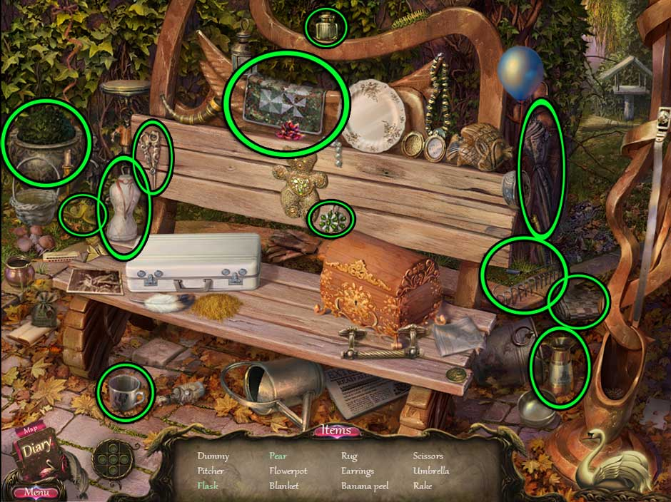 Black Swan Hidden Object Screen 02
