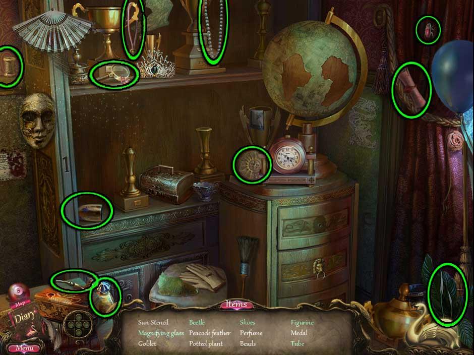 Black Swan Hidden Object Screen 04
