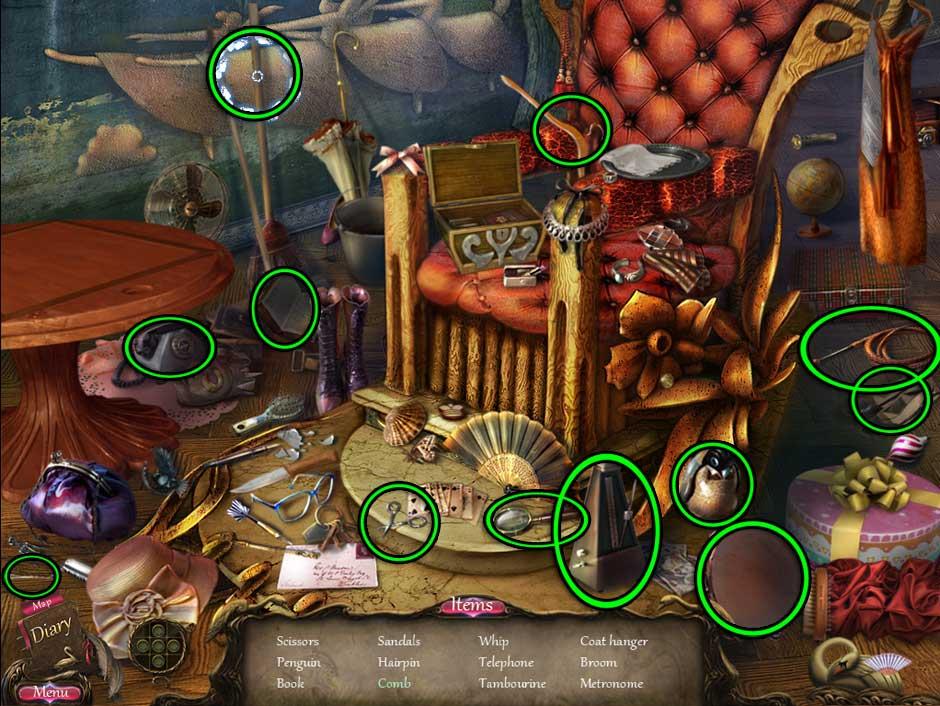 Black Swan Hidden Object Screen 15