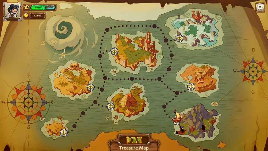 Braveland Pirate - World Map