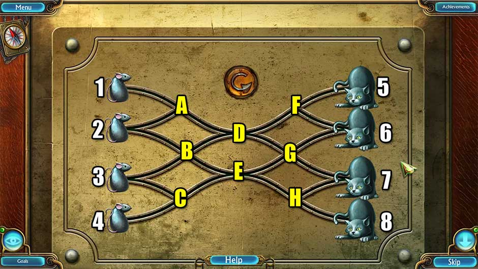Kingdom of Aurelia - Mystery of the Poisoned Dagger - Chapter 3 - Cat and Mouse Puzzle Solution
