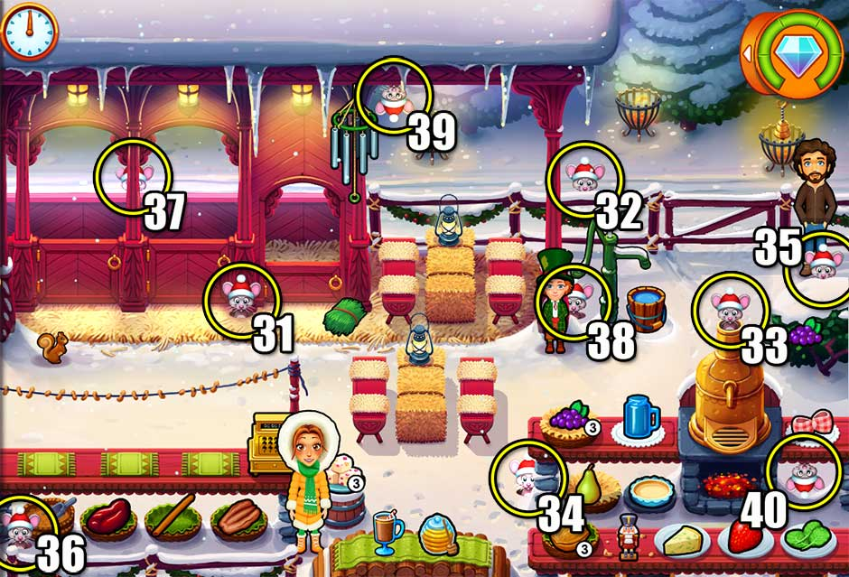 Delicious - Emily's Christmas Carol - Chapter 4 Mice Locations